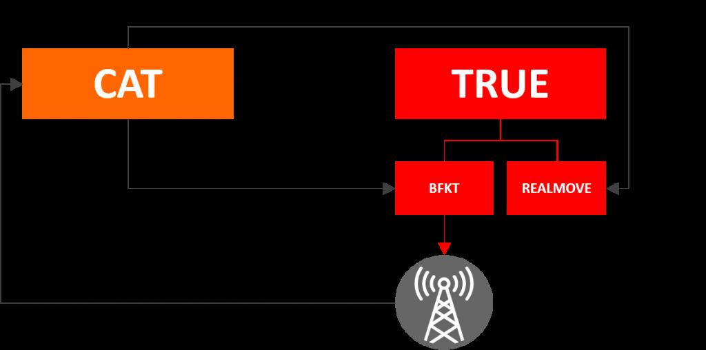 CAT Telecom and True 850MHz MVNO Setup
