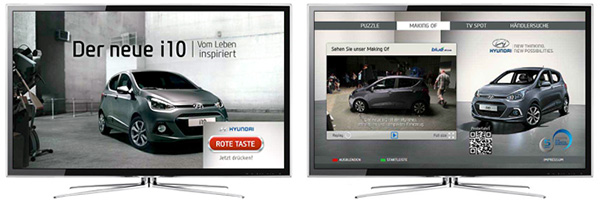 HbbTV advertising example Red button
