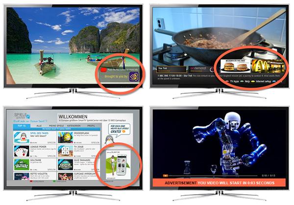 HbbTV advertising examples