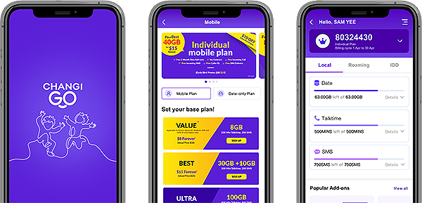 MVNO Changi Mobile Go App